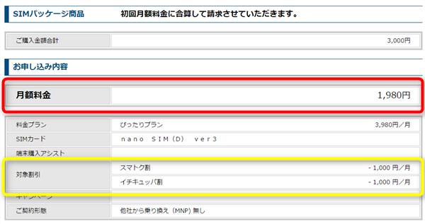 UQモバイルSIM単体契約