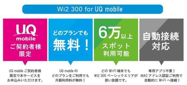 UQモバイルのwifiエコネクトは無料