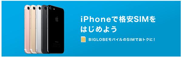 ビッグローブモバイルはiPhoneでも使える
