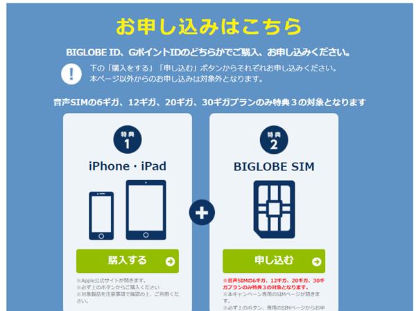 ビッグローブモバイルはiPhoneでも使える3