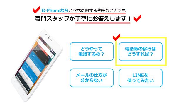 gphone無料サポート
