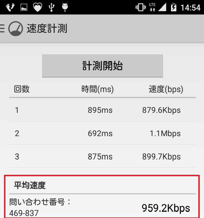 トーンモバイル実行速度